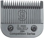 "Wahl Competition Series Size #9 Blade 2mm (5/64"") 4649"