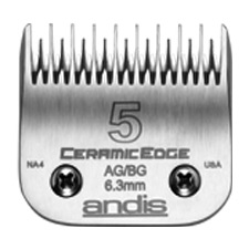 "Andis CeramicEdge Size 5 Skip Leaves hair 1/4"" - 6.3mm #64300"