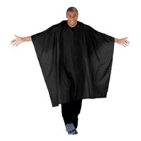 Betty Dain Super Size Blk Barber Cape (Snap Closure) Style #899S