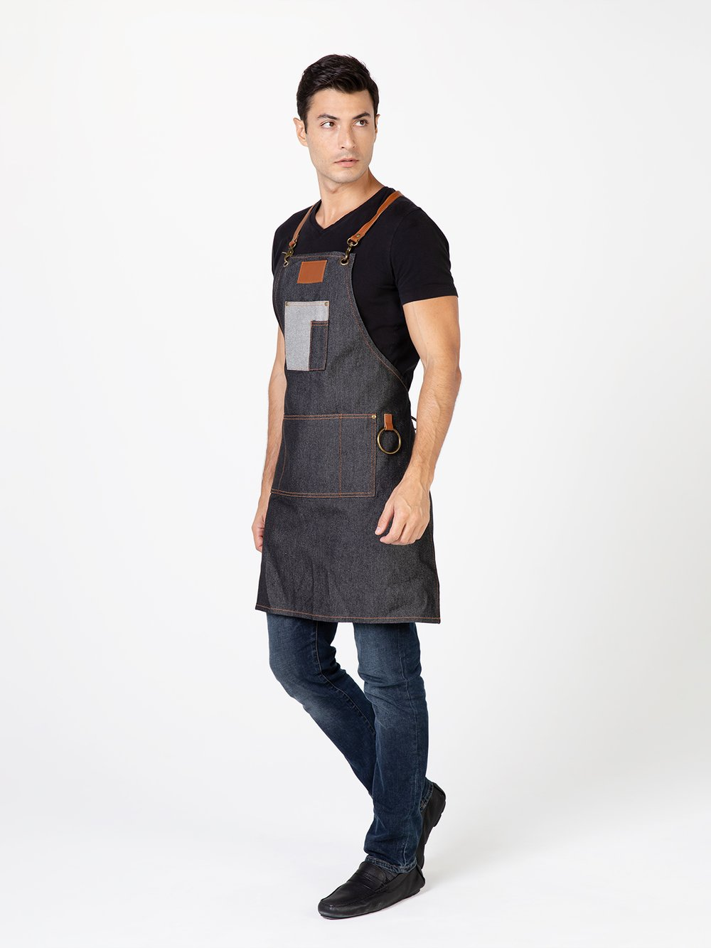 Betty Dain BROOKLYN DENIM APRON BLACK 8295