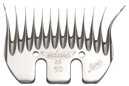 Lister Buzzard 5S Slick/Run-in Shearing Comb 5-Pack #228-13360